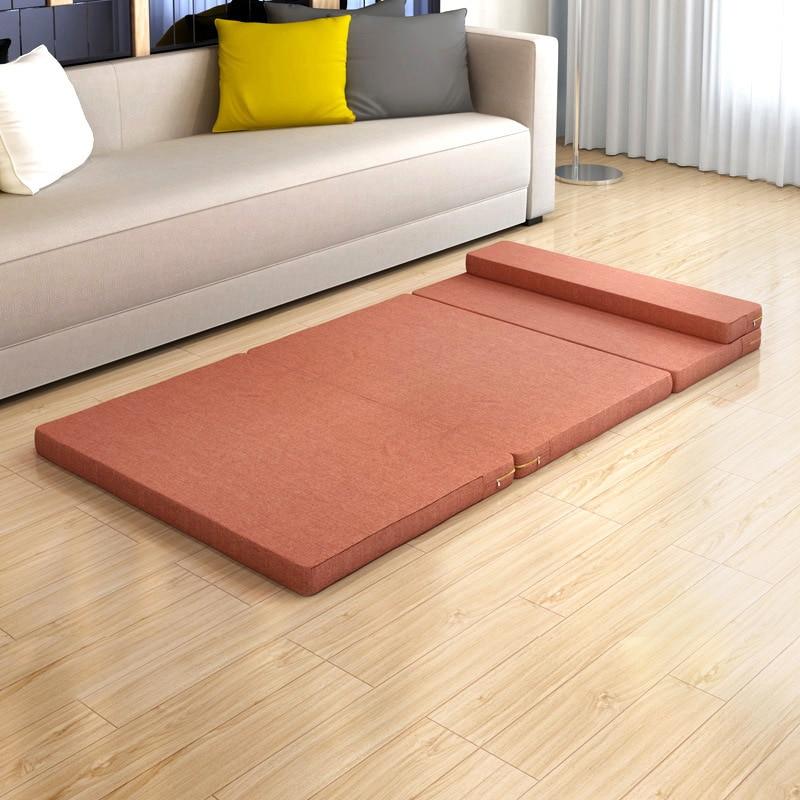 Vouwen Bed Enkele Gebruik Slapen Pad Mode Elastische Kids Matras/pad Comfortabele Memory Foam Meubels Met Hoofdsteun Voor Een Soepele Overdracht