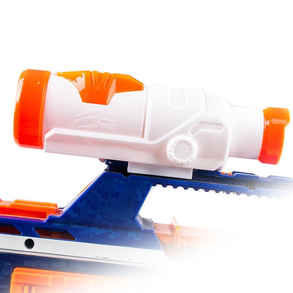 Nuevo Producto en oferta Dispositivo de avistamiento de juguete silenciador de juguete Compatible con modelo de pistola de juguete de la serie NERF Objetivo eléctrico de reinicio automático de puntaje de alta precisión DIY para Nerf gun accesorios juguetes para deportes de diversión al aire libre regalos de Año Nuevo TSLM1