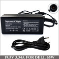 19.5V 3.34A 65W Laptop AC Adapter Charger For Caderno Dell Inspiron 11z 14 14r 15 15r 7R 1545 1546 1551 1557 NX061 XK850 HR763