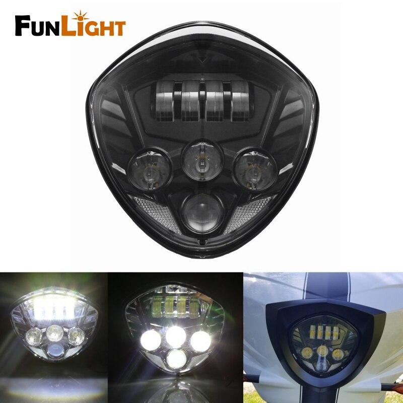 Здесь можно купить   Free shipping Black Victory Motorcycles LED Headlight Headlamp Kit 12V with High & Low Beam for Victory Cross Country Автомобили и Мотоциклы
