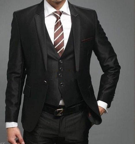 Groom Coat Wedding Suits For Men 2016 Black Mens Wear Wedding Groom Tuxedo, Tailored 4 Piece Suit Black Wedding Tuxedos For Men