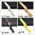 10 pçs/lote alta qualidade 18 MM 20 MM 22 MM 24 MM de aço inoxidável pulseira de homens pulseira - WBT099