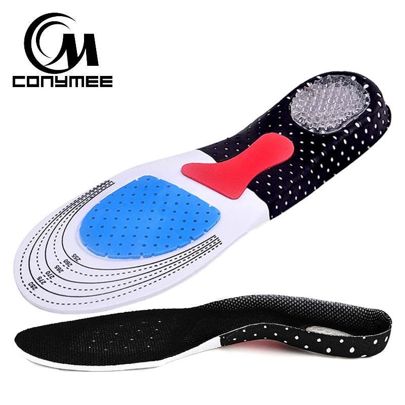 CONYMEE Silicone Gel Orthotic Insoles Arch Support Shoe Pads Sneakers Inserts Shoes Cushion Pad Foot Care Insole For Men Women