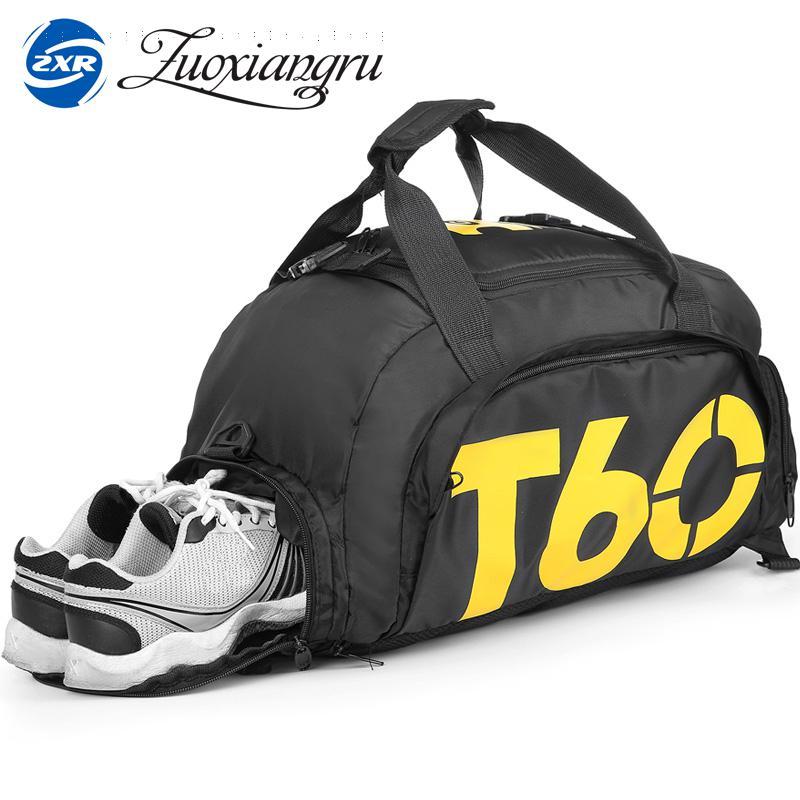 Novo esporte masculino ginásio saco senhora mulher bolsa de viagem de fitness ao ar livre mochila com espaço separado para sapatos esporte