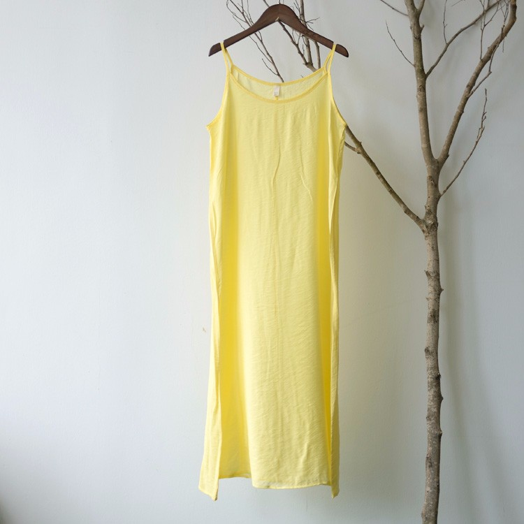 Женское платье-комбинация из чистого шелка и хлопка, пикантное нижнее белье карамельных цветов, без застежек