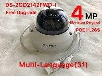 Hikvision 4MP IP Camera DS 2CD2142FWD I Network Dome Camera H 265 High Resolution CCTV Camera