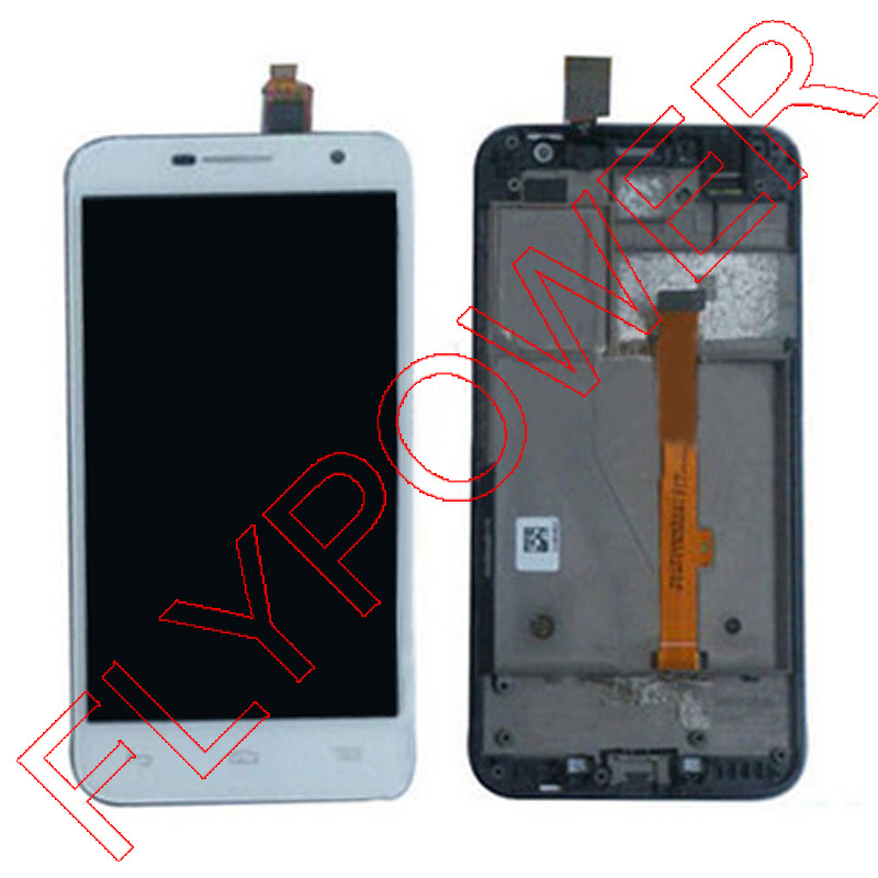 FOR Alcatel One Touch Idol 2 mini 6016 Ot6016 Lcd Display Touch Digitizer Assembly + Frame white by free shipping