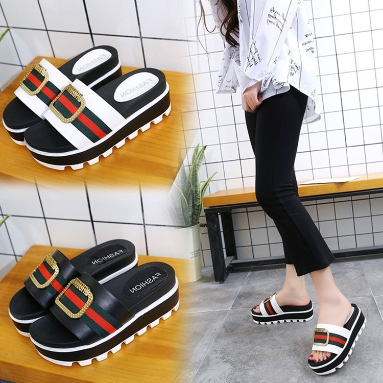 brand designer Fashion Women Slippers Flat Casual Women Shoes platform Slides Beach Slippers sandalia feminina