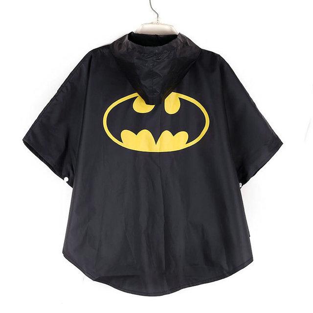 Cool Hero sign design kids rain coat poncho for children,infantil rainwear baby rain cape waterproof tools household commodity