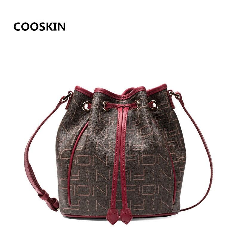 Best quanlity Women's handbags Spring series Trendy Bucket bag Neonoe Monogram canvas calfskin lady shoulder bag free shipping