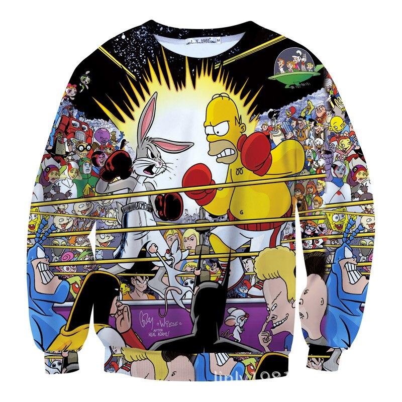 ea7b58e1c Men Women Cartoon Bart Simpson Sweatshirt Pullover Fleece Couple Hoodies  Funny 3D Print Homer Simpson Hoodie. 11. 8221