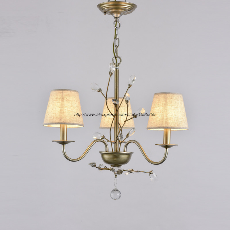 Modern rustic style 3 arms flower flower model for Dining room 5 light chandelier