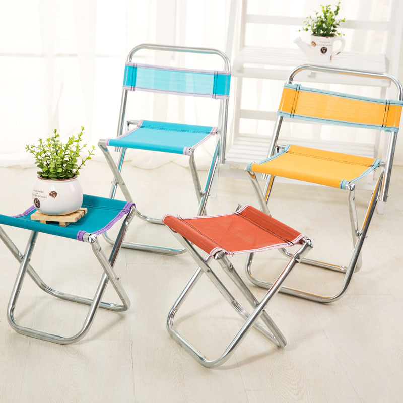 Fishing Chair Stainless Steel Folding Stool Outdoor Portable Mesh Chair Fishing Stool Folding Chair