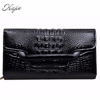 Kajie Brand Crocodile Clutch Purse Luxury Party Evening Bags Pu Leather Shoulder Bag For Girl Chain