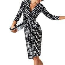 2017 new woman autumn winter dress elegant plus size sexy pencil formal work office wear casual bodycon dvestodos