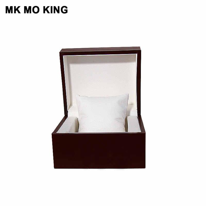 العلامة التجارية الفاخرة هدية صندوق ل dw رولكس كارتييه تيسو أوميغا لونجين بانيراي IWC AP mk الرجال المرأة سوار ساعة خشب متين صندوق