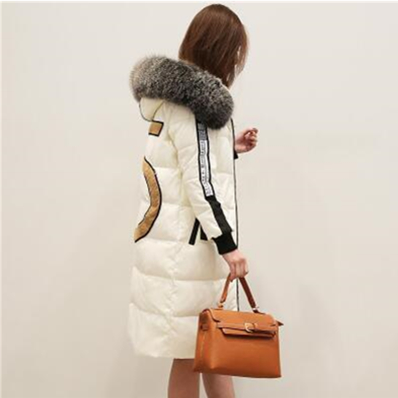 OMLESA Winter jacket Women 2017 Mid-long Thicken Warm cotton-padded Down Parkas Coat Faux Fur Collar Hooded Jacket ZA393