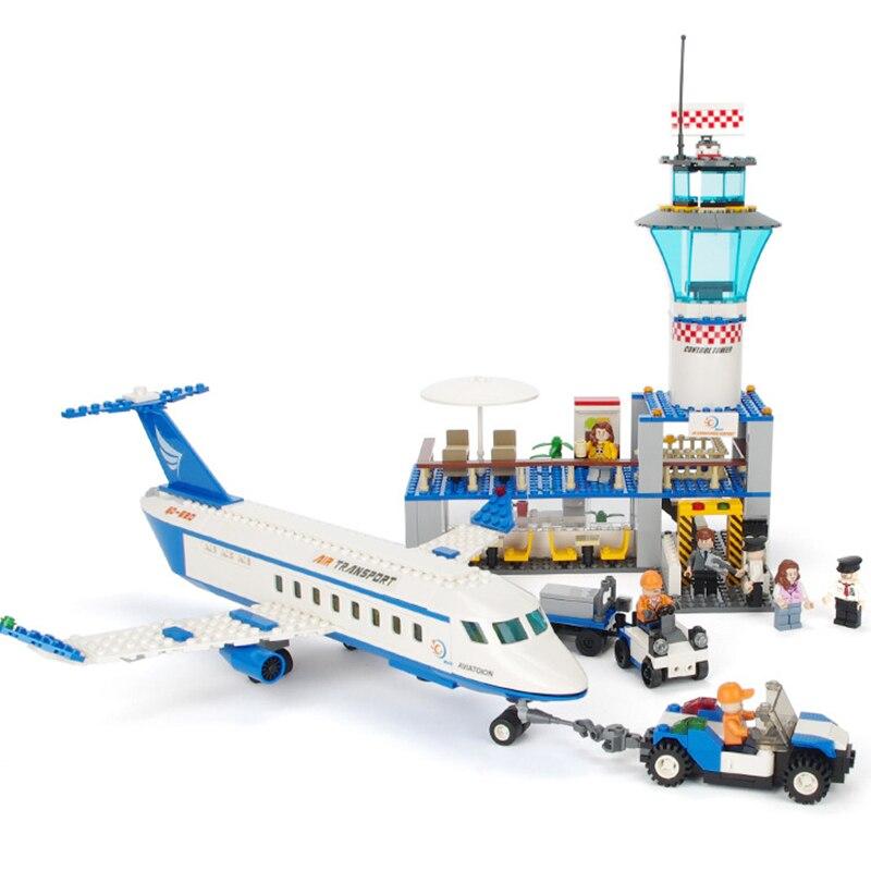 GUDI Aeropuerto Internacional de la ciudad de aeronaves de aviación VIP juegos de bloques de construcción ladrillos modelo juguetes de los niños creador Compatible Legoings