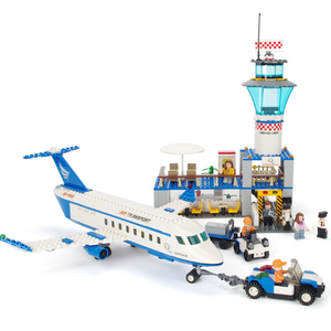 GUDI City International Airport Aviation Aircraft VIP Building Blocks Sets Bricks Model Kids Toys Creator Compatible Legoings