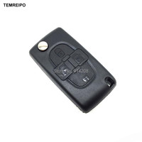 TEMREIPO 20pcs/lot Replacement 4 Buttons Remote Key Case Shell Fob Blade for Peugeot for citroen