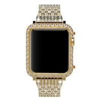 Callancity for Apple Watch series 3 series 2 series 1 diamond case bezel crystals handwork inlaid black platinum plating