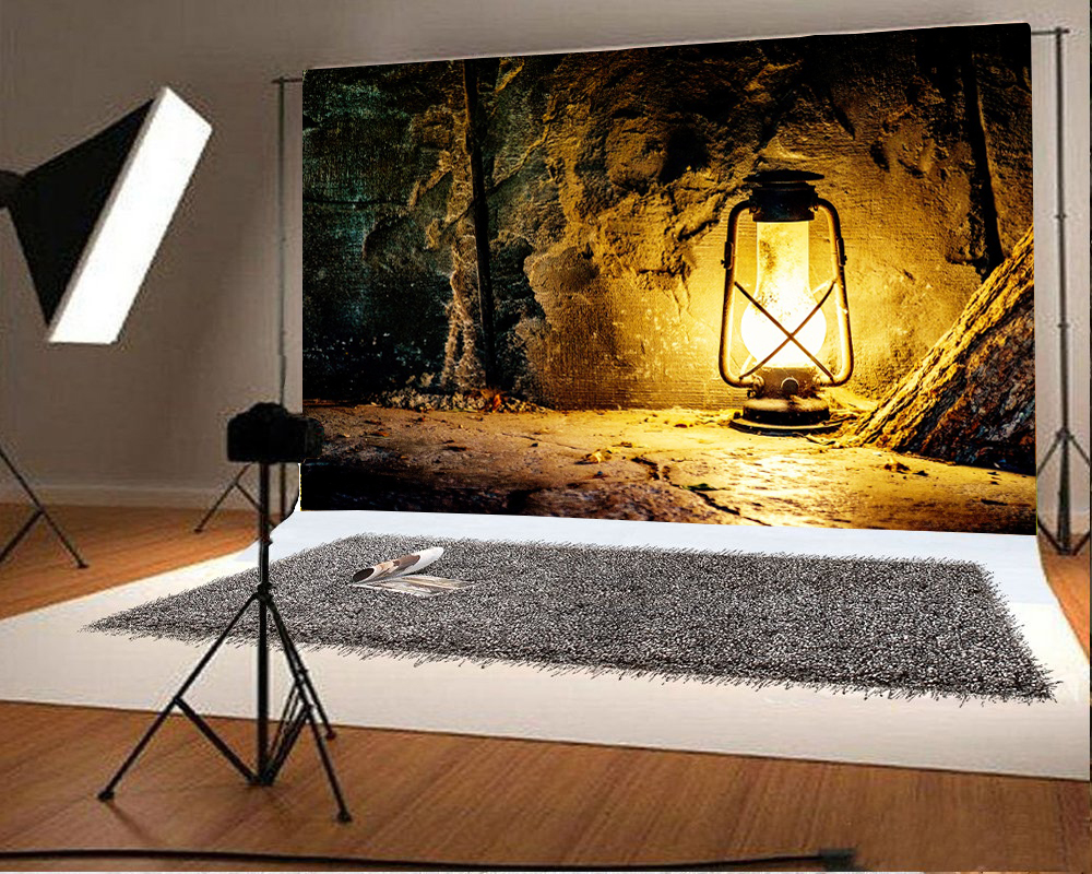 Laeacco Old Wall Floor Lamp Portrait Photography Backgrounds Customized Photographic Backdrops For Photo Studio