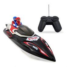 Flytec 2011-15B 24 см 40 МГц 4CH 10 км/ч высокая скорость гоночный RC лодка игрушка для детей Детский подарок