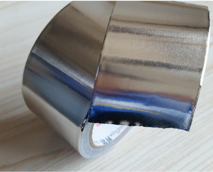 width 50mm thin aluminum foil adhesive tape,metal conductive tape, fire-retardant. free shipping tape aluminum foil tape adhesives sealer household hardware 3cm width