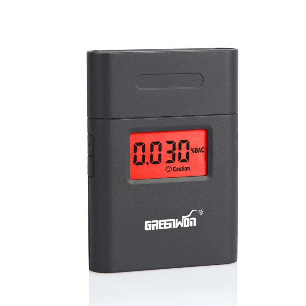 AT838 Professionell Polis Digital Andnings Alkohol Tester Breathalyzer Gratis frakt Dropshipping