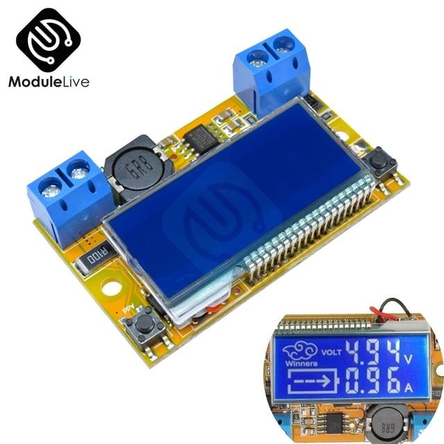 Double affichage 5-23V à 0-16.5V 3A | 3A à bas niveau, convertisseur de puissance à gradage, LCD réglable, régulateur de tension
