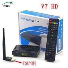 SATXTREM V7 HD DVB-S2 Digital tv satellite decoder Freesat V7 satellite receiver full 1080P support DRE & Biss key with USB wifi