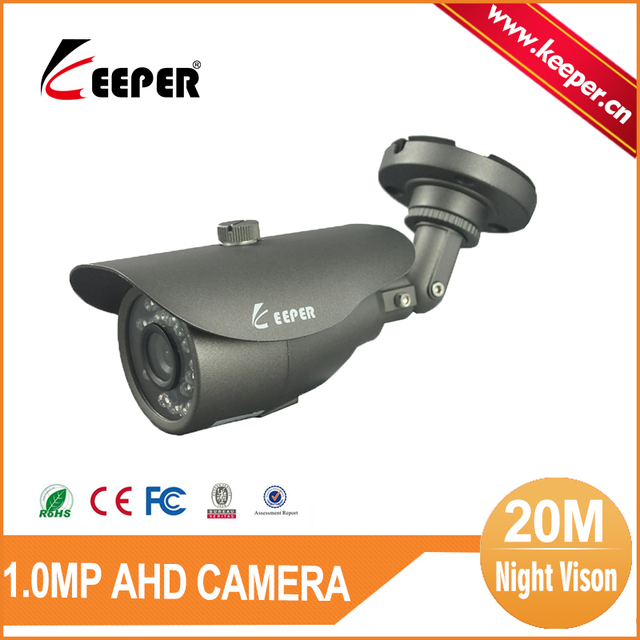 KEEPER Waterproof Security & Protection 3.6MM Fixed Lens 720P AHD Camera 20M Night Range CCTV Outdoor Security Camera IR Cut