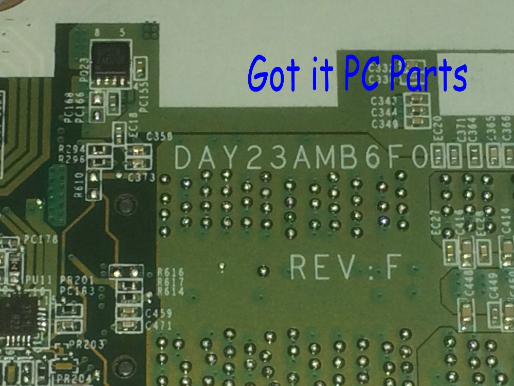 NEW + WORKING FREE SHIPPING 763424-501 DAY23AMB6F0 REV : F LAPTOP MOTHERBOARD For HP PAVILION 17-F SERIES NOTEBOOK PC