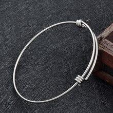 Le plus nouveau Bracelet extensible de Bracelet de fil dacier inoxydable de 1.8mm 316L Bracelets réglables avec lexpédition de DHL