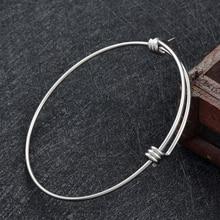 Nieuwste 1.8mm 316L Rvs Expandable Wire Bangle Armband Verstelbare Armbanden Met DHL Verzending