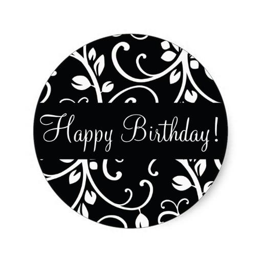 3.8cm Happy Birthday Floral Vine Envelope Sticker Seal-in ...