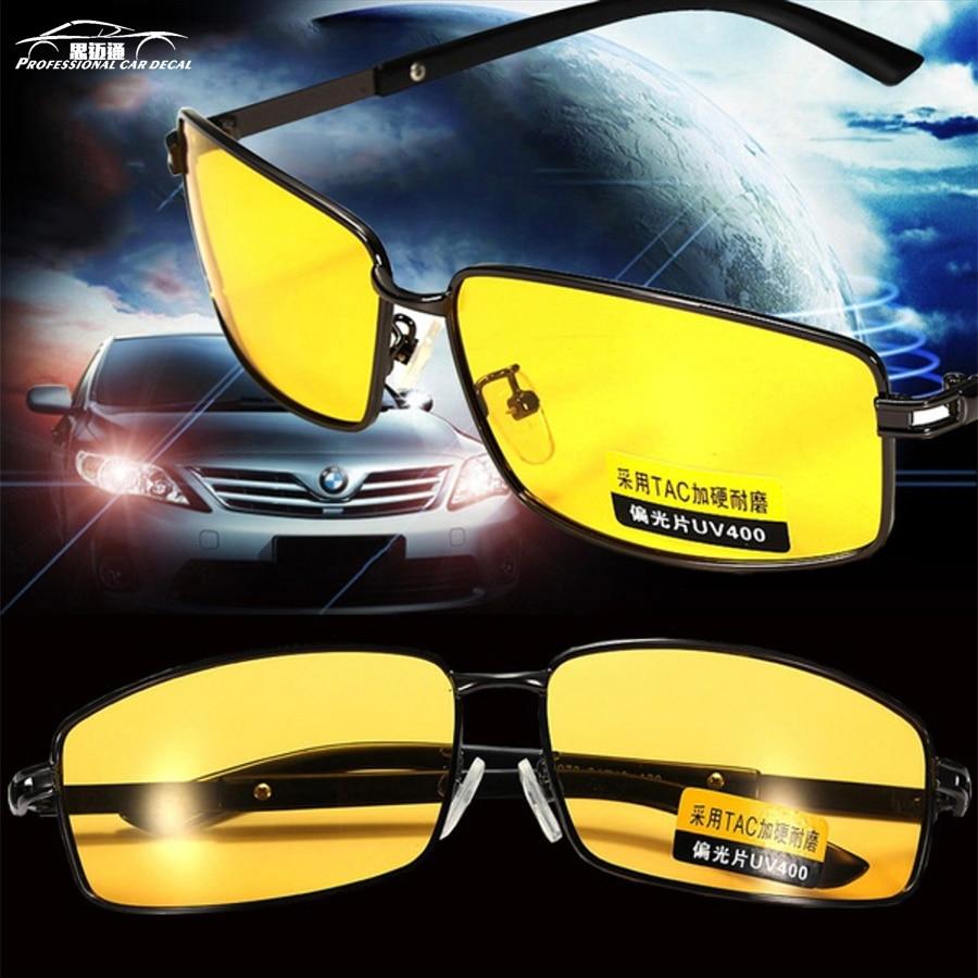 3550e7012c Gafas de visión nocturna gafas de sol polarizadas hombres de alta-gafas  UV400 gafas de sol aviador, conductor Noche de conducción gafas