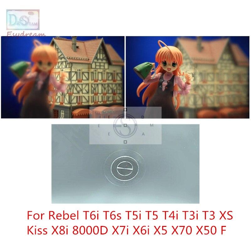 Unique 180 degré Split Mise Au Point de L'image Écran De Mise Au Point pour Canon Rebel T6i T6s T5i T5 T4i T3i T3 Baiser X8i 8000D X7i X6i X5 X70 X50