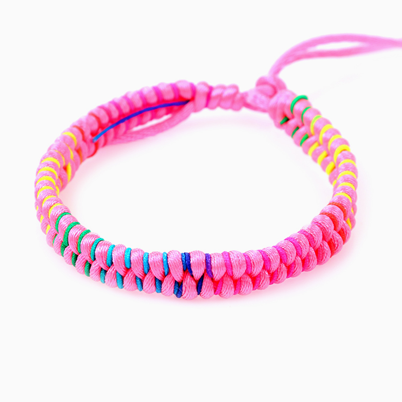 Fashion brazilian bracelet multicolor braided boho chain bohemian tassel handmade sport chain friendship bracelets neon unisex 4