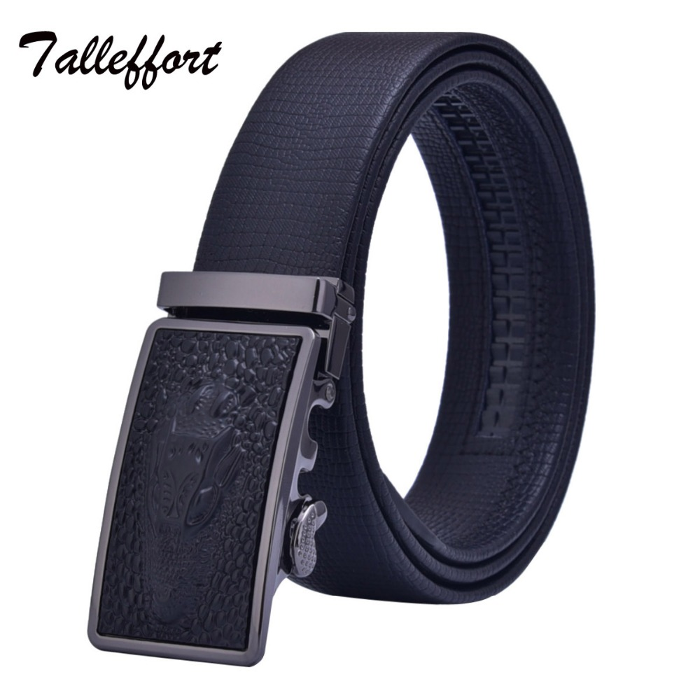 High Quality Automatic Buckle Cowhide Leather Belt Men