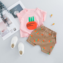 Newborn Baby Set For Girl Clothes Short Sleeve T-shirt And Shorts 2pcs Baby Suit Brand Infant Clothing Cotton Summer Boy Outfit недорго, оригинальная цена