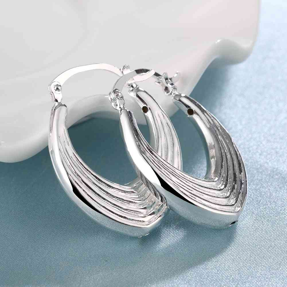 Aliexpress.com : Buy Free Shipping Gorgeous silver plated earrings ...