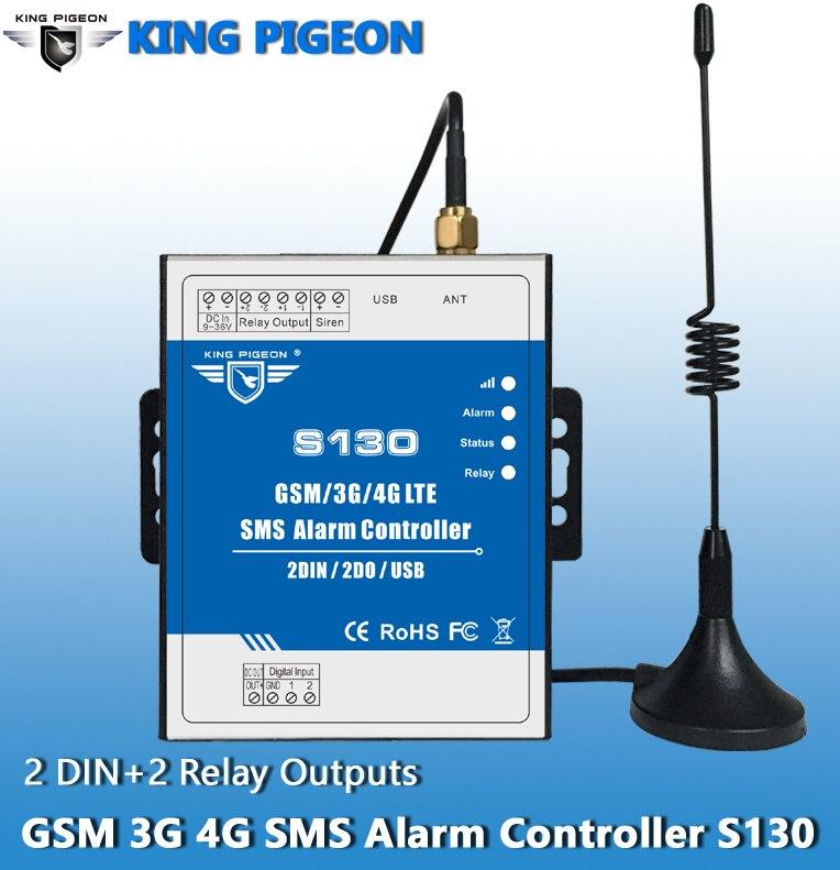 Contrôleur d'alarme à Distance S130 Direct usine GSM/SMS/3G/4G sans Limitation de Distance 2 entrées numériques batterie Rechargeable intégrée