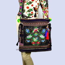 цены Free shipping fees Vintage Hmong Tribal Ethnic Thai Indian Boho shoulder bag message bag for women embroidery Tapestry SYS-560