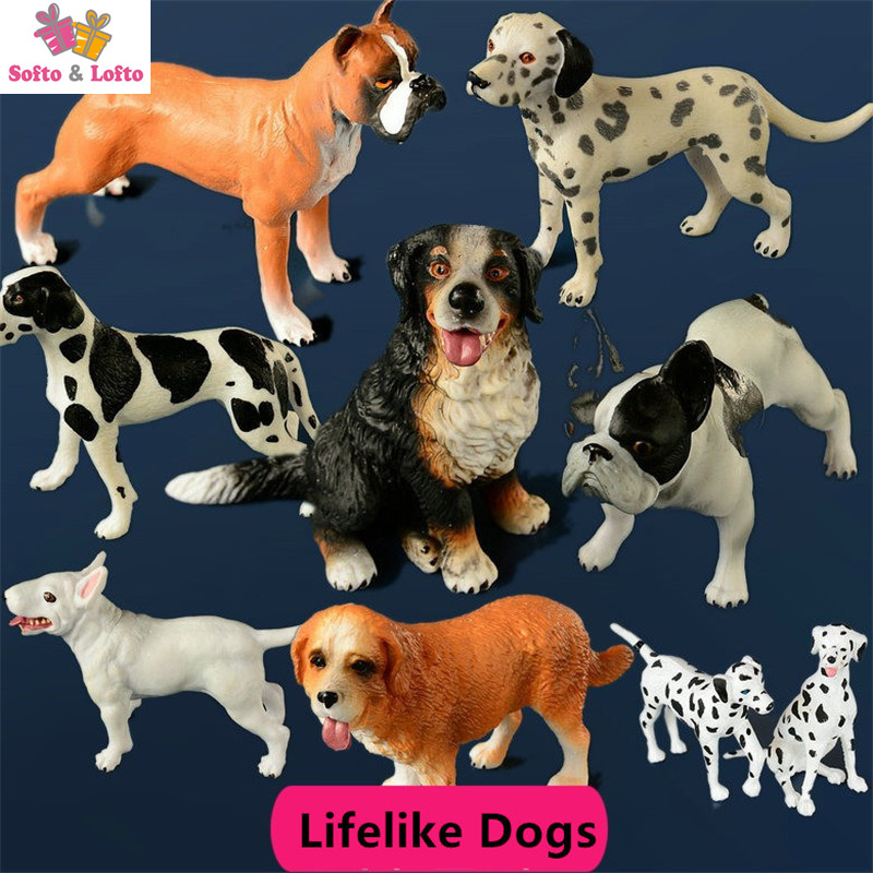 Free shipping Vivid Lifelike Dogs Pet Mini Figures 1pc PVC toy Bull Terrier Retriever Bulldog cake car party office home decor