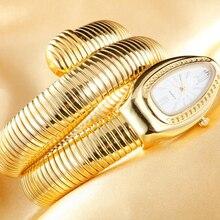 Cristais Cobra Bangle Relógios Mulheres Infinito Pulseira de Relógio Meninas Designer Relógio de Quartzo Relojes LL