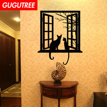 Decorate windows cats art wall sticker decoration Decals mural painting Removable Decor Wallpaper LF-114