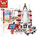 Aviación rocket ship estación de lanzamiento de juguetes educativos 2015 bloques de construcción conjunto Compatible con Lego juguetes para niños regalo 002969