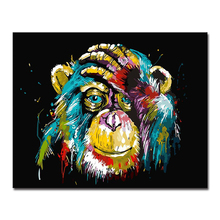 DIY Painting By Numbers Baboon Animal Pictures Home Decor Living Room Hand Paint Abstract Monkey On Canvas Unique Wall Art Craft