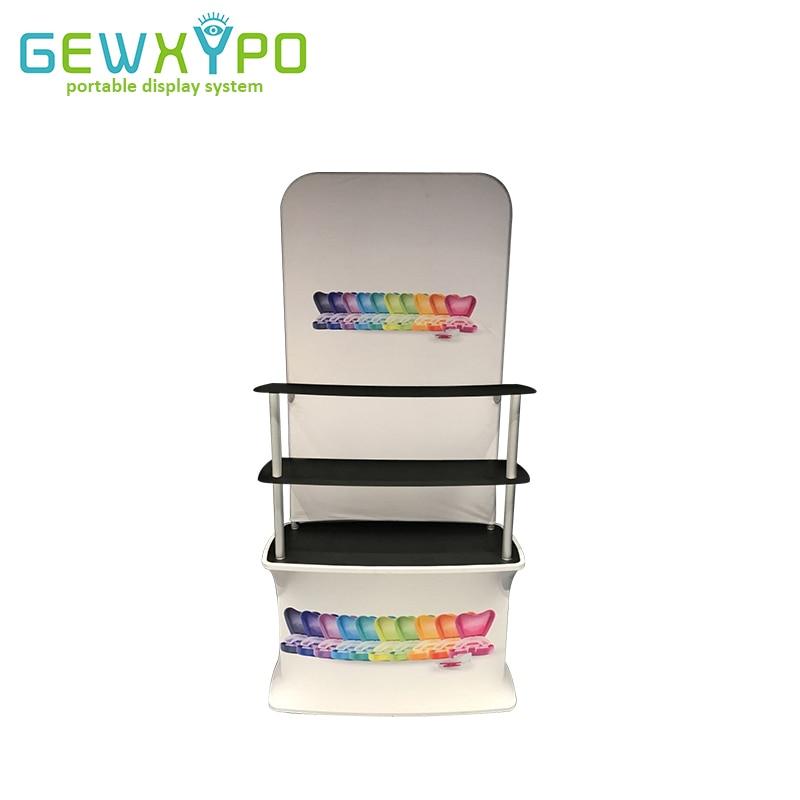 Výstavní stánek Tension Fabric Backwall Display Rack s reklamním proužkem, propagační tabulka Premium Trade Show